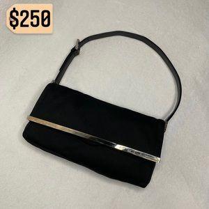 Fendi Mini Baguette Neoprene Shoulder Bag Vintage